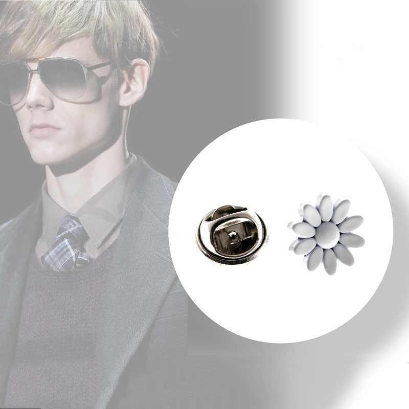 Sederhana Gaun Bros Daisy Kerah Jarum Kecil Bros Bunga Tetap Pakaian Cardigan Syal Gesper Pin Pria Hadiah Perhiasan