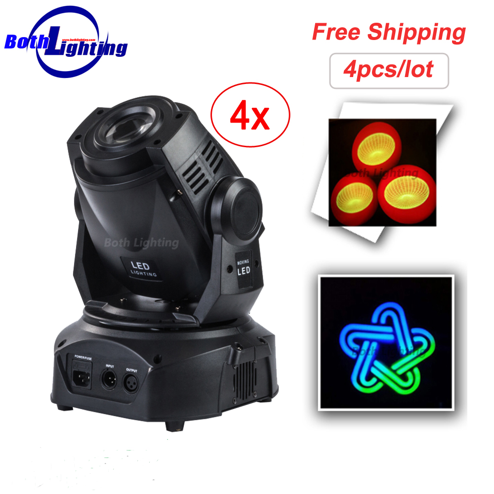 High quality mini stage light 75W beam spot led moving head gobo lights with DMX512 control for projector dj stage lighting