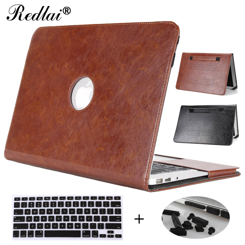 цена на Case For Macbook Air 13 inch,Redlai PU Leather Holster Laptop Case For Macbook Air 13.3 inch A1466 A1369 Shell with Hand Strap