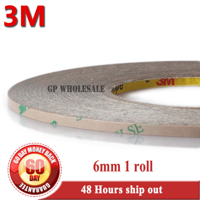 1x 6mm*55M*0.17mm 6.7 mil (thickness) 3M 9495LE 300LSE Clear Double Coated Tape High Bond Strength for Phone LCD Frame Case #921