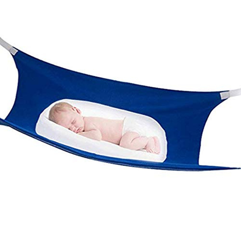 New Infant Baby Hammock For Newborn Kid Sleeping Bed Safe Detachable Baby Cot Crib Elastic Hammock Cradle With Adjustable Net