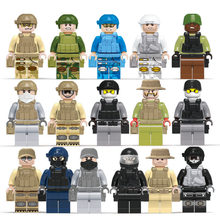 16pcs/lot Building Blocks Compatible Legoings SWAT Military Special police Minifigs toys for boys Building Blocks Police Toys(China)