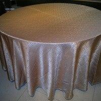 כוכב מסעדת מלון מפת שולחן/בד שולחן, אקארד בדרגה גבוהה עם עבה בד שולחן עגול, סיטונאי בד שולחן אופנה