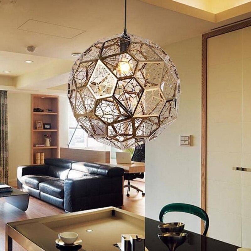 Diamonds Stainless Steel pendant lights for Restaurant Cafe/Bar/Dining room Geometric model Decorative Pendant lamp diamonds dvd
