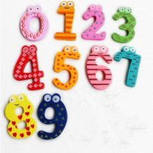 Children Wooden Toys Digital Jigsaw 3d Puzzle  Fridge Magnets Kids Games Educational Wood T Maths Toy Refrigerator Stick