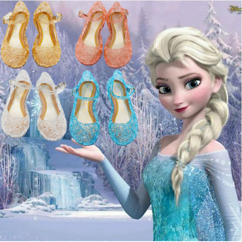 Ice Snow Shoes Elsa Crystal Shoes Cinderella Girls Princess Shoes Children
