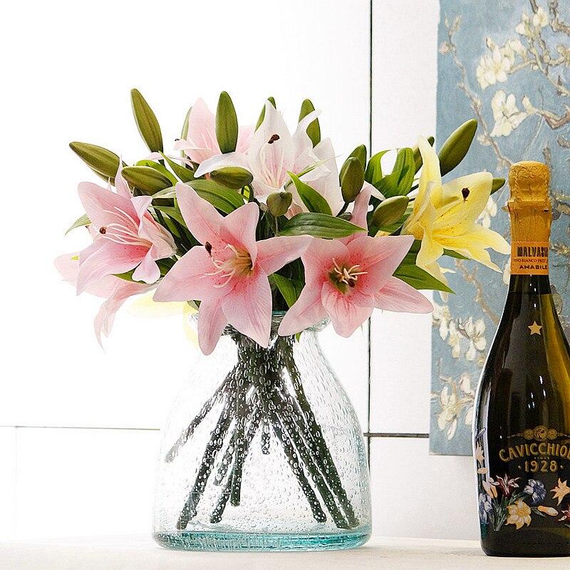 (10 шт./лот) свежие розы Искусственные цветы Настоящее сенсорный розовыми цветами, украшения дома для Свадебная вечеринка или день рождения