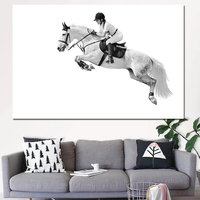 Рамки для декора Para Sala Ridder and batch живопись на холсте с изображением лошади настенные картины для гостиной современные украшения Искусство бе...
