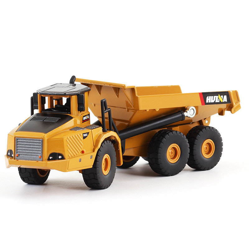 1:50 Scale Alloy Excavator Dumper Engineering Metal Diecast Truck Car Funny Toy For Boys Kids Birthday Gift