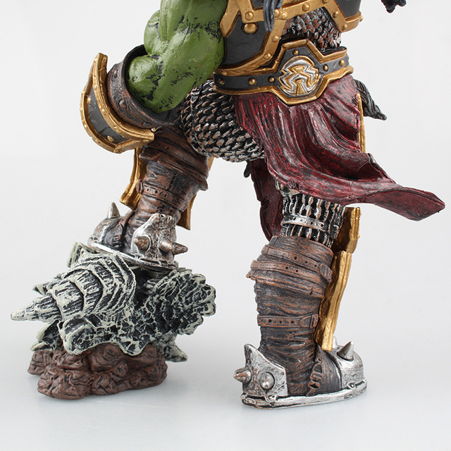 26cm DC WOW Thrall The Orc Shamman Action Figure Toys Thrall The Orc Shamman Doll PVC ACGN Figure Collectible Model Toy 2