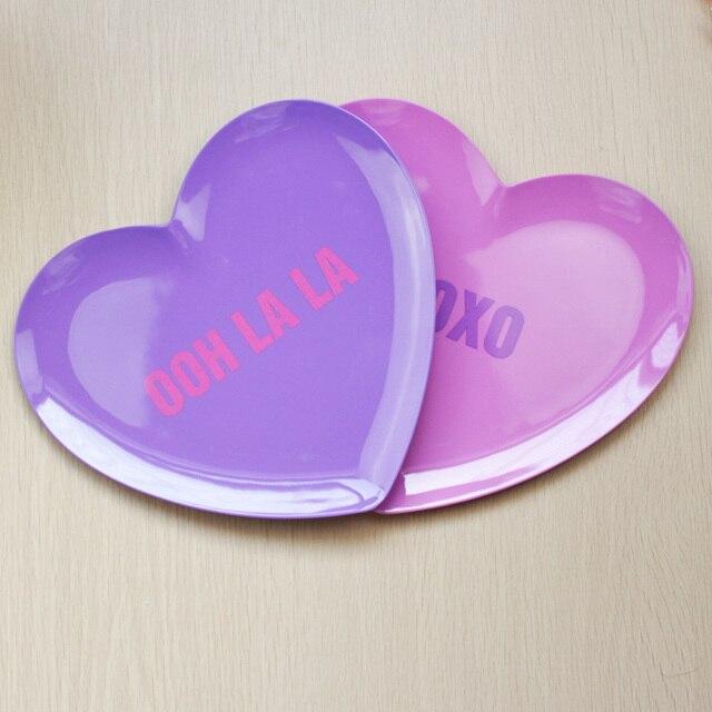 24x23cm Heart Shape Fruit Plates New Creative Desert Plates Tableware Dishes u0026 Plates Plastic Melamine Plates & 24x23cm Heart Shape Fruit Plates New Creative Desert Plates ...