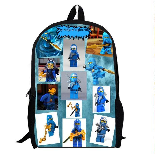 13 Pulgadas Ninja Mochila 1 Niños De Preescolar School Bolsa De