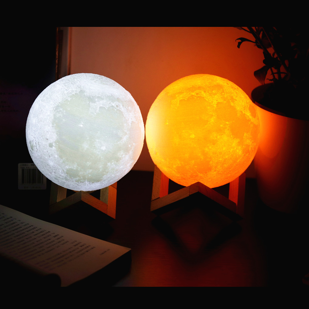 HTB1k5yfPCzqK1RjSZFjq6zlCFXaY Moon Light 3D Print Moon Globe Lamp, 3D Glowing Moon Lamp With Stand, Luna Moon Lamp Night Light for Home Bedroom Decor Children