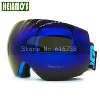 Motocross Ski Goggles Double Layers Lens UV400 Big Ski Glasses Anti Fog Skiing Snowboard Snow Goggles