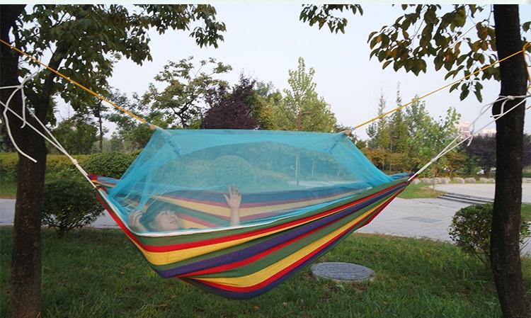 New Outdoor Camping Hunting Mosquito Net Parachute Hammock 2 Person Flyknit Hamaca Garden Hamak Hanging Bed Leisure Hamac