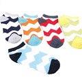 Hombres Calcetines de La Raya calcetines Cortos Patrón de Onda de Alta Calidad Telas Destacados Que Absorbe Desodorante Calcetín Masculino Calcetines de Algodón de Moda