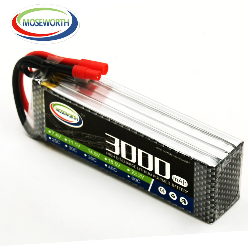 MOSEWORTH 4S RC Lipo մարտկոց 14.8v 40C 3000mAh RC - Հեռակառավարման խաղալիքներ