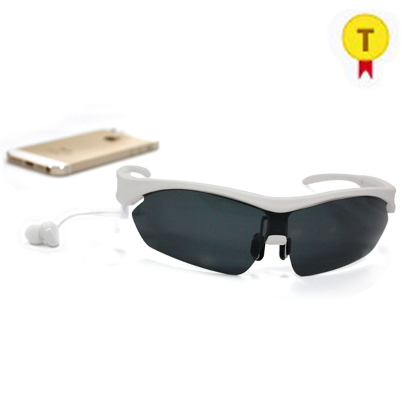 Bluetooth Sunglasses Headphone Earphones Sport Hands Free Smart Glasses Micro Earpiece Headset Music Earpods for iphone Android image
