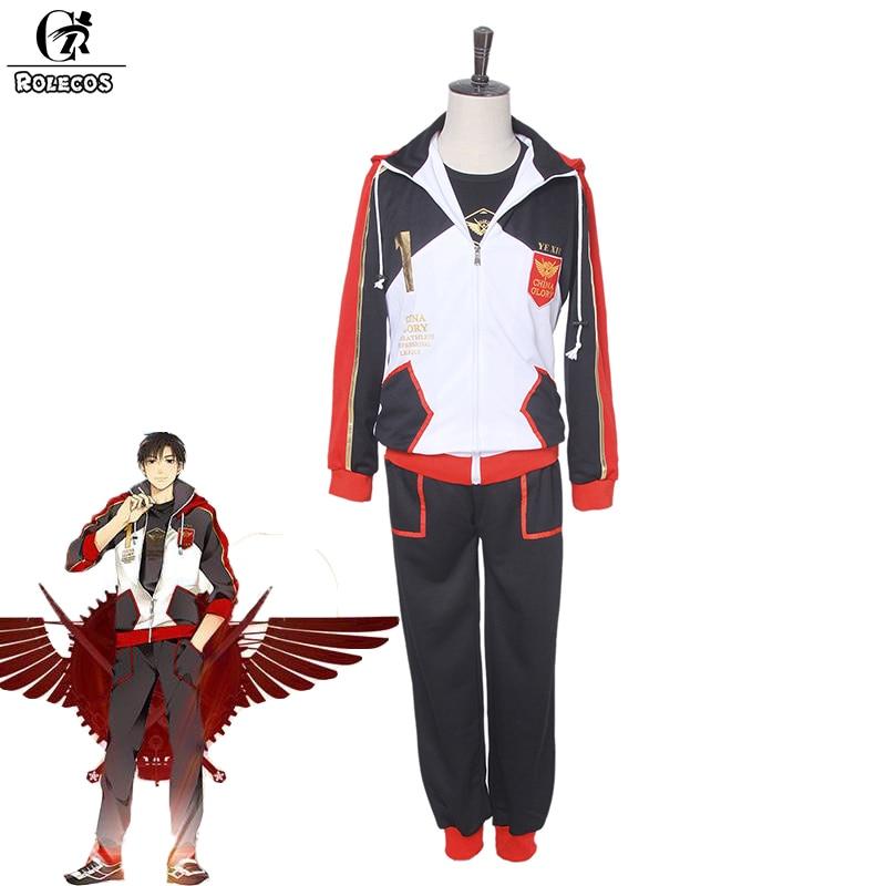 ROLECOS New Anime Quan Zhi Gao Shou The King's Avatar Cosplay Costume Yexiu Sumucheng Sport Set Costume