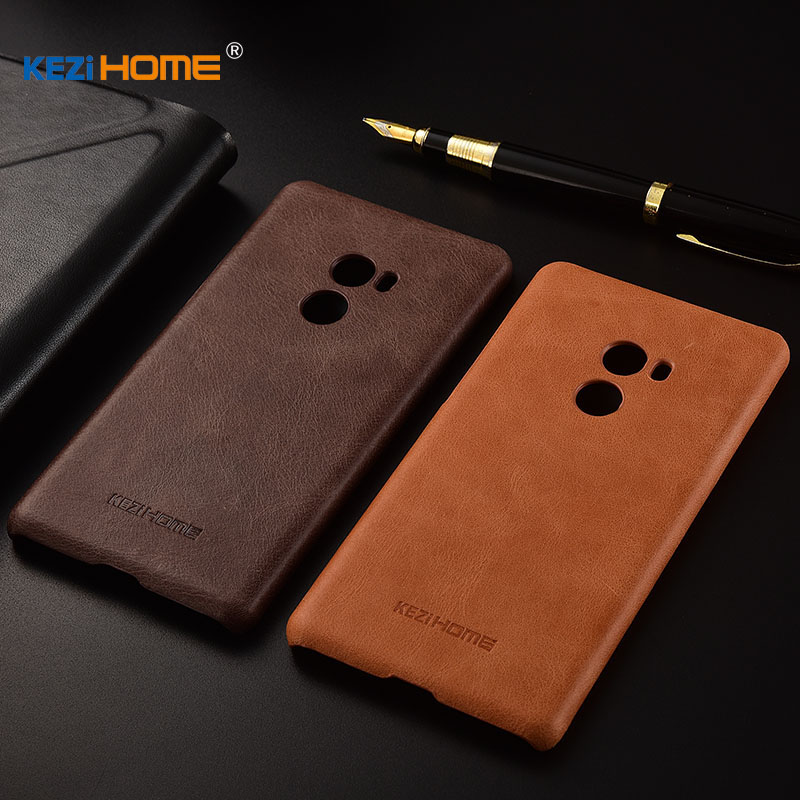 for Xiaomi Mi Mix 2 Mix2 case KEZiHOME Frosted Genuine Leather Hard Back Cover capa For Xiaomi Mix 2 5.99'' Phone cases