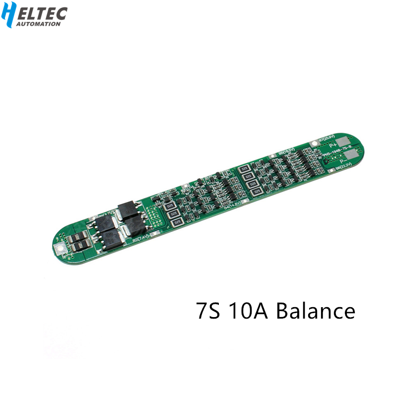 7S 10A  BMS 26V Continuous 10A With Balance 18650 Top Special  Battery Protection Board