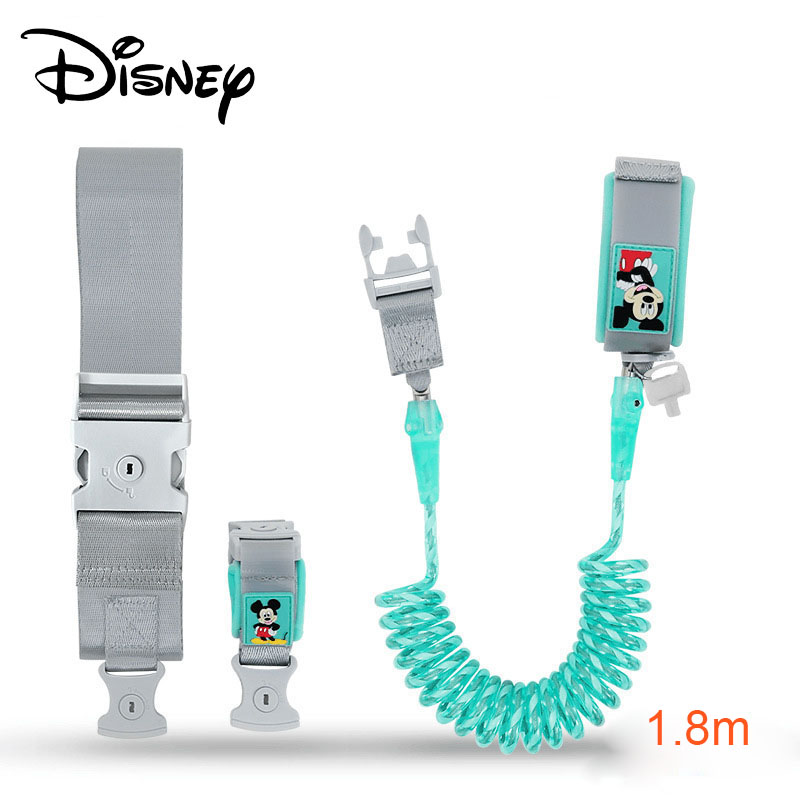 Disney Toddler Safety Lock Harness for Baby Kids Strap Rope Leash Walking Anti Lost Wrist Link Hand Belt Band Wristband Children in Harnesses Leashes from Mother Kids