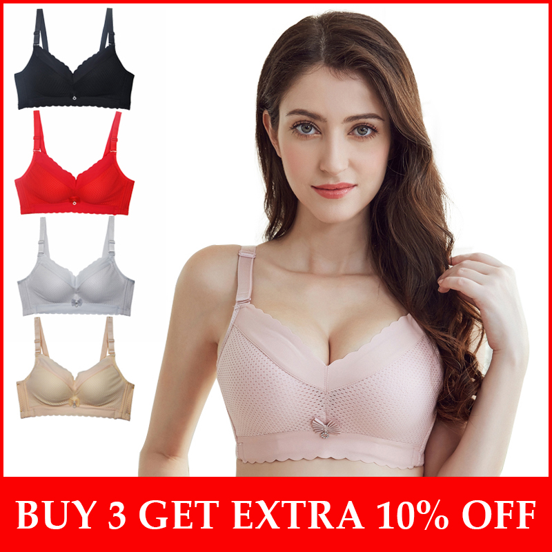 d903ccdf8 Sexy Push Up Women Bra Wire Free Soft Bras for Ladies Breathable Brassiere  B Cup Underwear