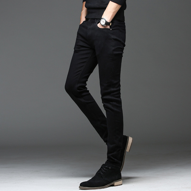 Batmo 2019 new arrival high quality casual slim elastic black jeans men ,men's pencil pants ,skinny jeans men 2108 21