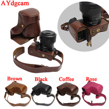 New Luxurious PU Leather-based Digicam Case Bag For Sony A6500 ILCE 6500 With 16-70mm 18-55mm Lens Shield bag Open Battery Design