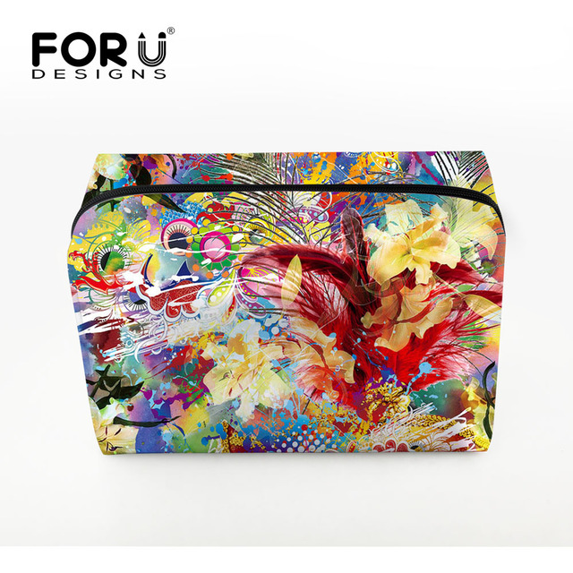 FORUDESIGNS 2016 Travel Cosmetic Bag For Make Up Bag For Women Fashion Toiletry Bag Large Capacity Bag