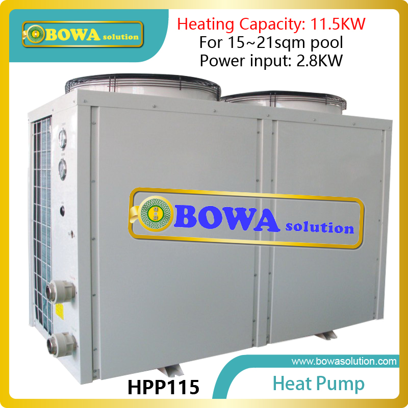 15~21sqm swimming pool heat pump with titanium heat exchanger and 11.5KW heat capacity, pls consult us about shipping costs 60l liquid refrigerant tank with valve installed in heat pump water heater for swimming pool