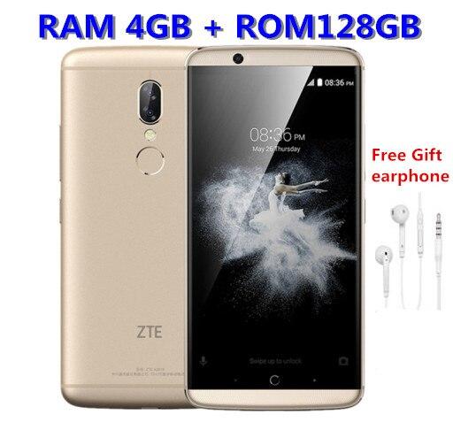 Mondial Version ZTE AXON 7 S 20.0MP Mobile téléphone Snapdragon 821 Quad-core 4 GO de RAM 128 GB 5.5 FHD 2560x1440 NFC 4G LTE Smartphone