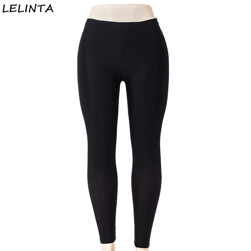 LELINTA Summer Style Women's Scale   Leggings   Black S-3XL Sportes Pants Workout High Waist Slim Elastic Stretch Skinny Trousers