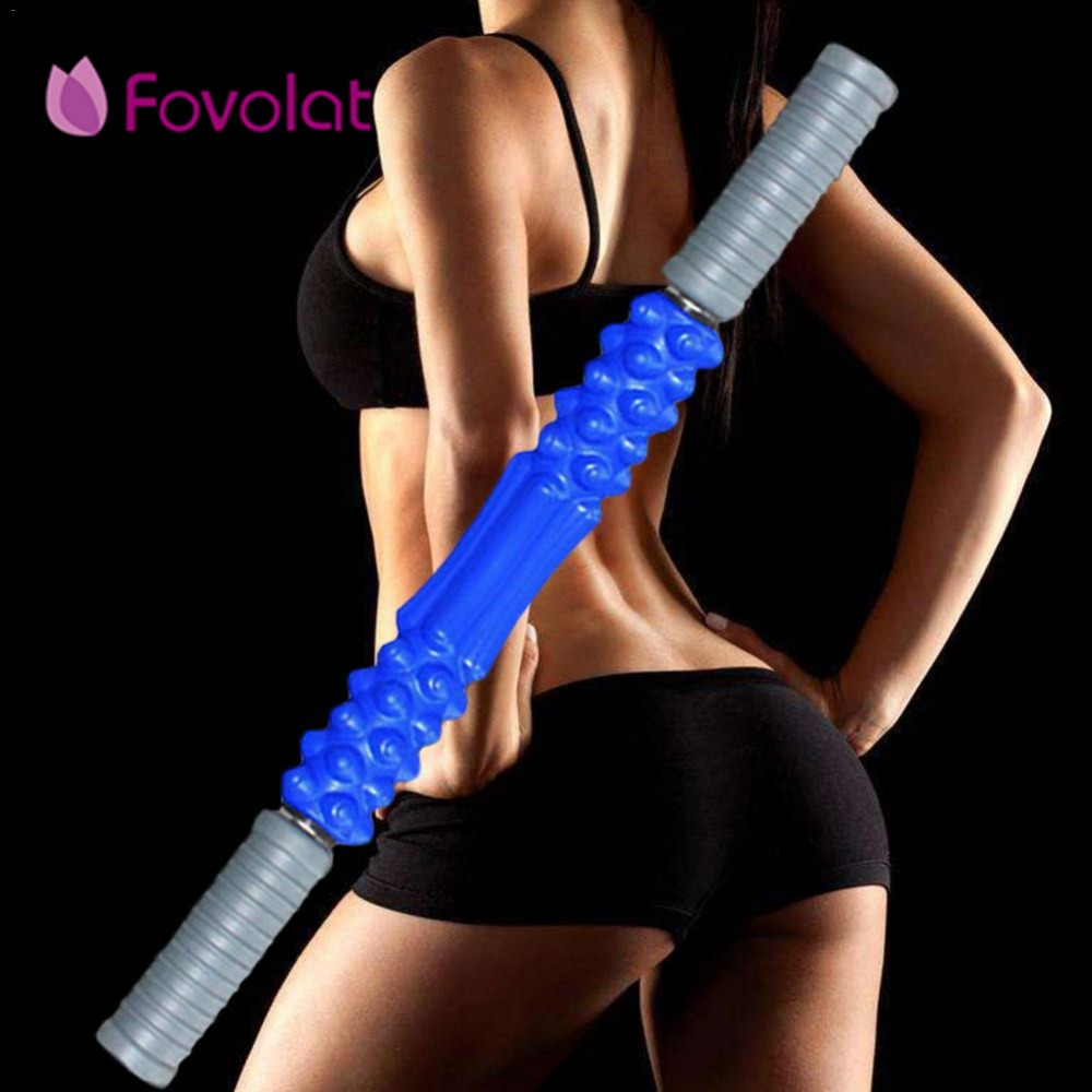 Fitness Equipmen Roller Eliminate Fat Lose Weight Muscle Roller Stick Leg Body Back Muscle Trigger Point Massager Stick new arrive thera cane back hook massager neck self muscle pressure stick tool manuel trigger point massage rod sswell