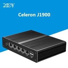 Промышленная 4 LAN мини-ПК Intel Celeron J1900 гигабитный сетевой порт 4 ГБ ОЗУ DDR3L 60 г SSD Безвентиляторный Pfsense OS VGA настольный компьютер