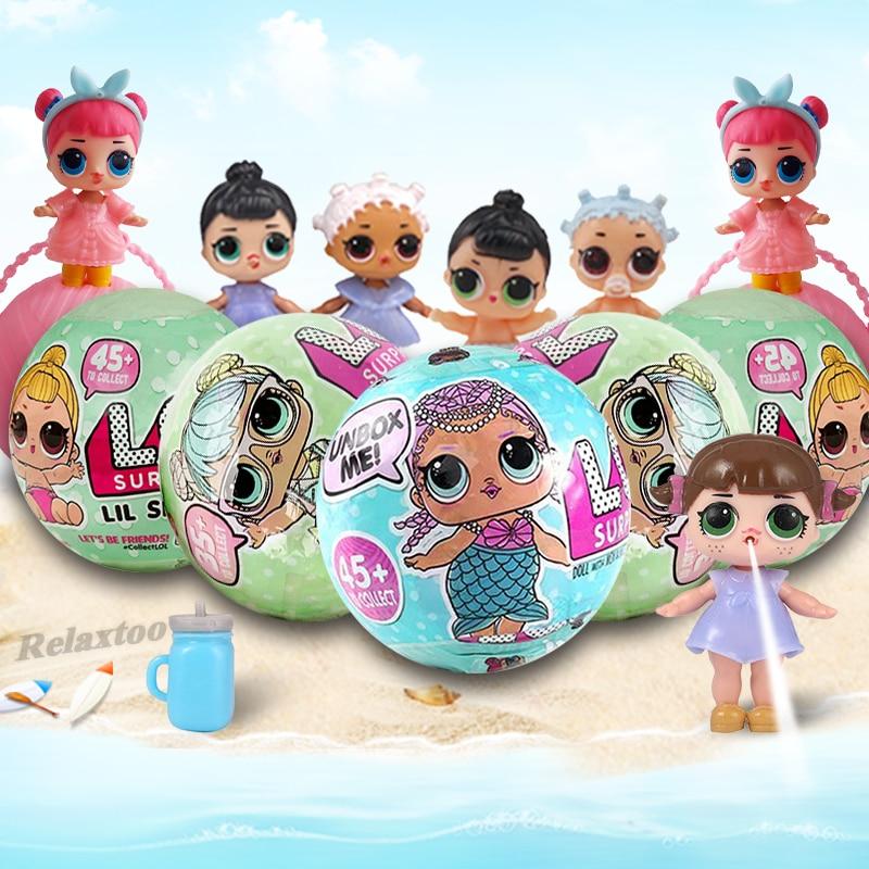 LQL Original Surprise Egg Dolls Pet Baby Girls Dress Up LOL Magic Ball Figure Boneca Toy Finger for Gift Funny Bath Toys LOL