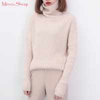 Hot Sale Big Neck Sweaters Women Pullover 100 Cashmere And Wool Knitwear Winter Warm Turtleneck Sweater