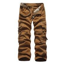 цены Trousers high quality men's sports pants casual pants men's loose multi-pocket pants trousers men's cotton jogging pants  28-38