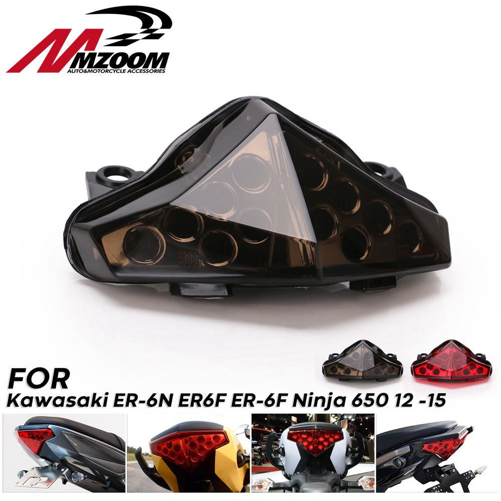Brake steering signal integrated Led light rear tail light for Kawasaki Er6N Er6F Ninja 650 Ex650 2012 2013 2014 2015 2016