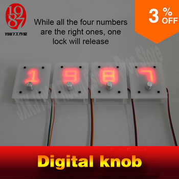 jxkj1987 Escape room takagism game prop 4 digital knobs rotated to right numbers to unlock with audio chamber room escape props - DISCOUNT ITEM  0% OFF All Category