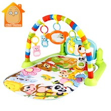 Mini Tudou Baby Play Mat Kids Rug Educational Puzzle Carpet With Piano Keyboard And Cute Animal Playmat Baby Gym(China)