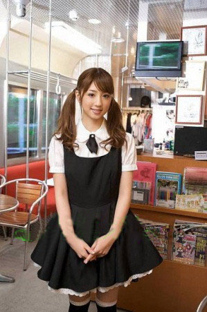 Anime Lolita Maid black and white cosplay costume clothe Custome Made Free Shipping