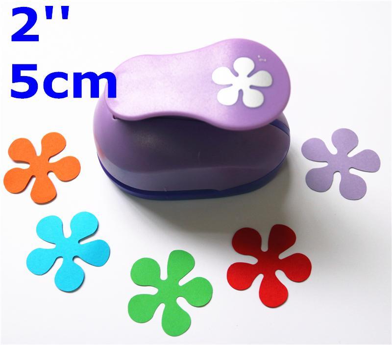 2'' 5cm Paper Punch Puncher Flower Paper Punches For Scrapbooking Furador De DIY Craft Punch Creative Embosser Punch Card Making