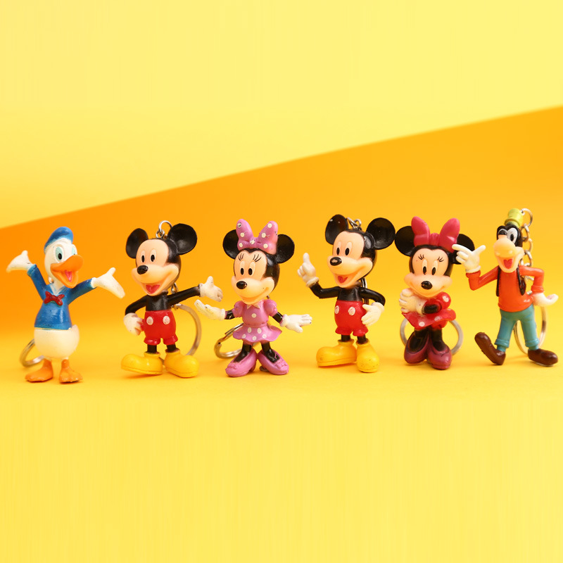 bfa7b0ca6d SOBUY 4PCS Minnie Mickey Keychain Mouse Figure Toys Kawaii Doll Kids  Birthday Gift Anime Juguetes Brinquedos