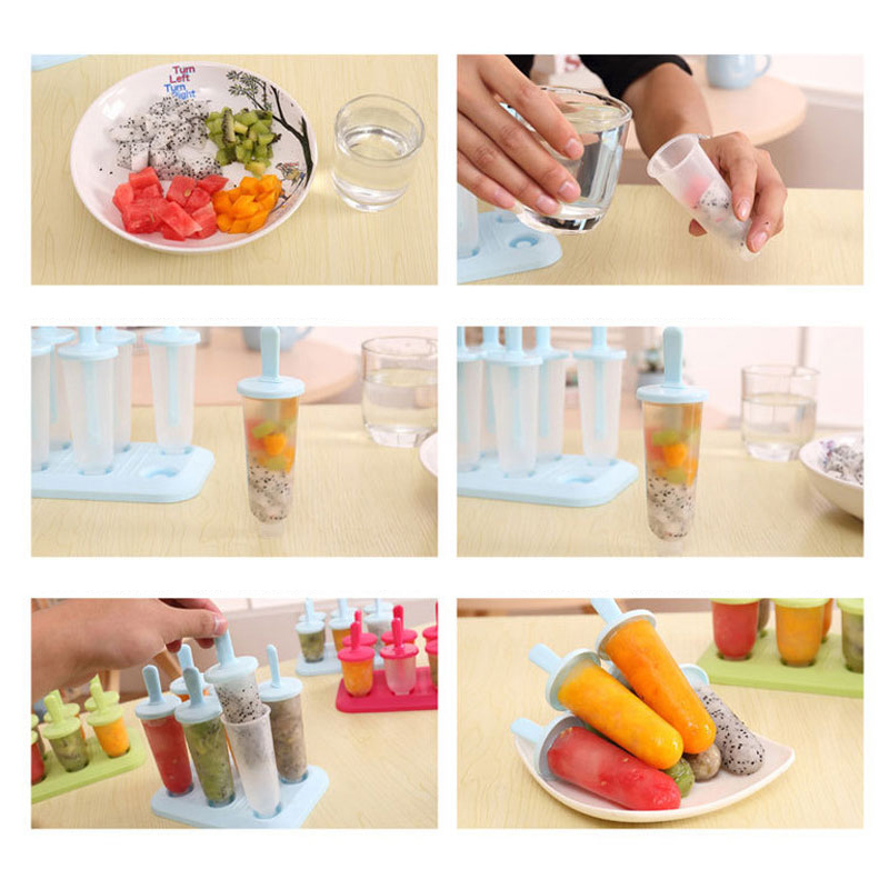 1Set Evdə Dondurma Popsicle Kalıp Yaradıcı Yay Dondurma qutusu - Mətbəx, yemək otağı və barı - Fotoqrafiya 5
