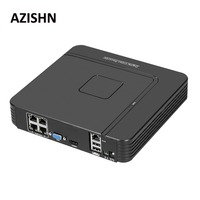 AZISHN Surveillance Full HD H 264 4CH NVR 48V POE 1080P HDMI ONVIF P2P Network Video