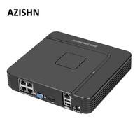 AZISHN Surveillance Full HD H 264 4CH NVR 48V POE 1080P HDMI ONVIF P2P Network Video
