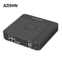 Мини 4CH POE NVR 48 В 1080P HDMI полный сетевой HD видео Регистраторы CCTV Системы для POE Камера охранных Системы ONVIF P2P azishn