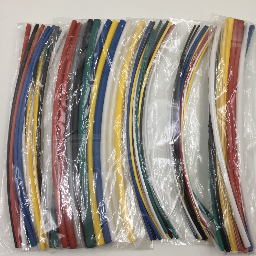 55 Pcs Heat Shrink Heatshrink Wire Wrap Sleeves Car Electrical Motorcycle Wiring Harness Tubing Cable Tube