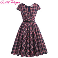 Belle Poque Womens Summer Dresses 2017 Summer Casual 1950s Style Rockabilly Women Party 2017 Runway Vintage